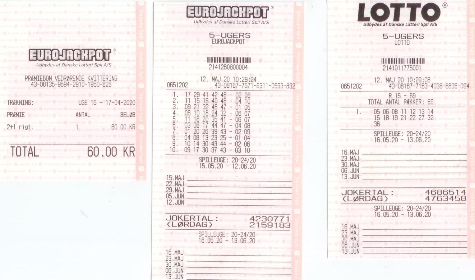 Eurojackpot 17.4.20